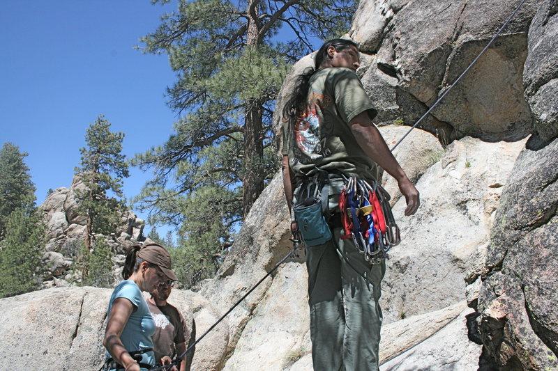 Rock Climbing Photo: Agina, Nathan and Al at the base of Gravity Kills ...