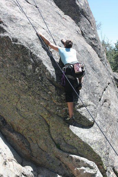 Rock Climbing Photo: Agina on Gravity Kills 5.10a 1 of 2