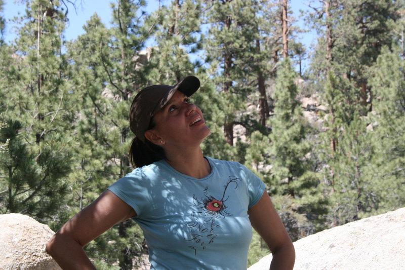 Rock Climbing Photo: Agina checking out Gravity Kills 5.10a