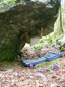 Rock Climbing Photo: After the big reach