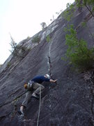 Rock Climbing Photo: Ken starting up Mushroom. Great thin hands/fingers...