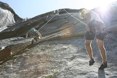 Rock Climbing Photo: 120 foot rap from the bolts....