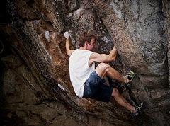 "Rock Climbing Photo: Stan Zborovski climbing:  ""Less Than Thievery..."