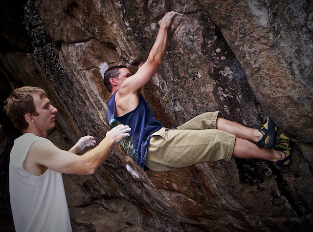 "Rock Climbing Photo: Jim Hausman climbing:  ""Less Than Thievery&qu..."