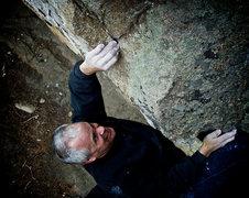 "Rock Climbing Photo: Mr. Scott Sillis pulling on ""Less Than Thieve..."