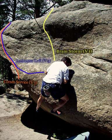 Photo beta for the left most east side of the Pac-man boulder.