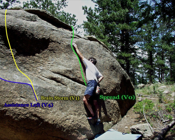 Photo beta for the right most side of the Pac-man boulders east side.