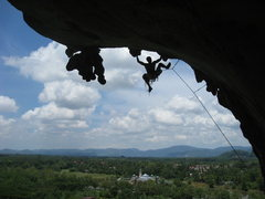 Rock Climbing Photo: Belly Button Window, 7b, Bukit Keteri, Perlis, Mal...