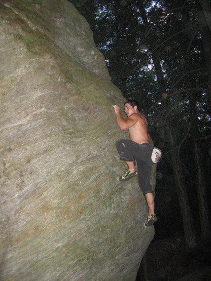 Rock Climbing Photo: Nate dogg East Coast crimpin'.