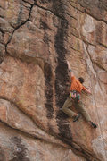 Rock Climbing Photo: Testing the wing span on a friendly top rope on an...