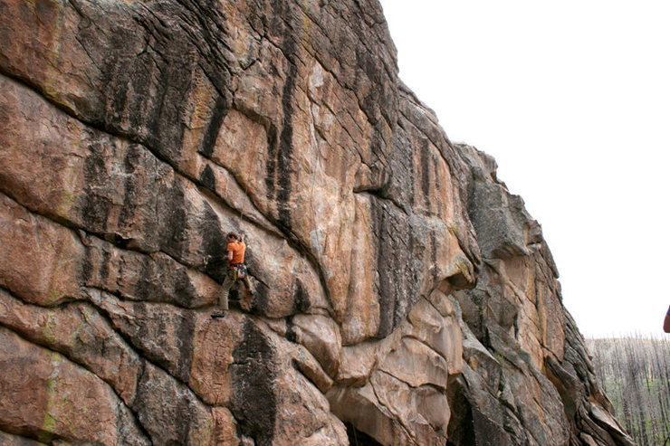 Rock Climbing Photo: A nice friendly top rope, I think this is the crux...