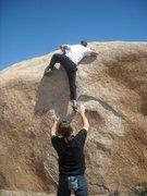 Rock Climbing Photo: lock low, step high.
