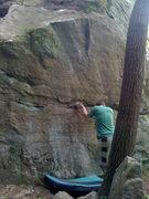 Rock Climbing Photo: Aaron getting started