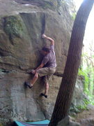 Rock Climbing Photo: fun move bringing your feet up to the good hold