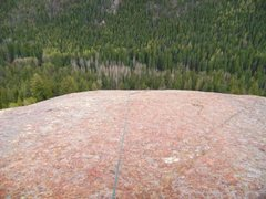 Rock Climbing Photo: From second belay boulder. Note the 100 feet of ru...
