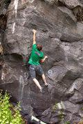 Rock Climbing Photo: Jamie Emerson sticking the throw