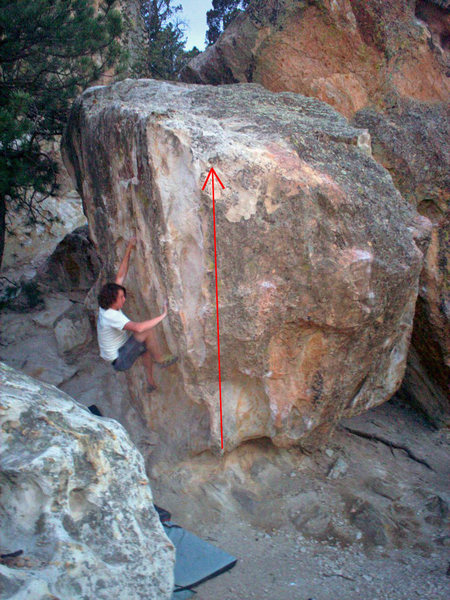 Rock Climbing Photo: This shows the Rain Dance line.