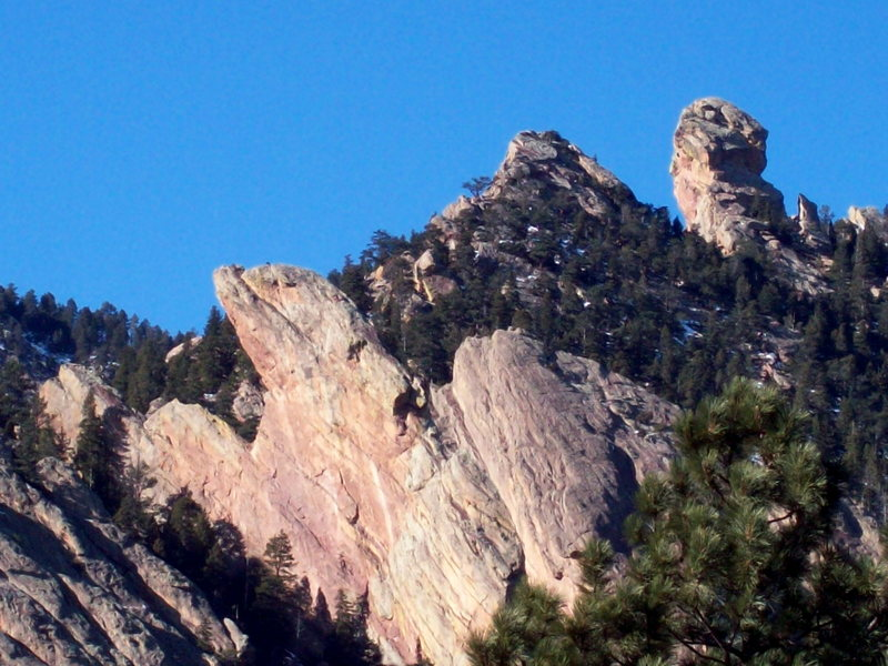 Rock Climbing Photo: South Face of the Maiden and Devil's Thumb.