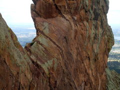 Rock Climbing Photo: Crow's Nest and the southwest edge of the Maiden.