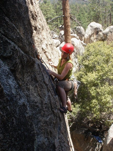 Rock Climbing Photo: Hook and Ladder is a very respectable 5.6.  Kelly ...