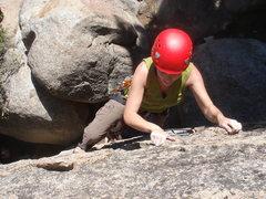 Rock Climbing Photo: Kelly finishing up the final plates of Hook and La...