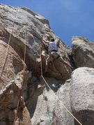 Rock Climbing Photo: At the crux - Mike Williams proving size really do...