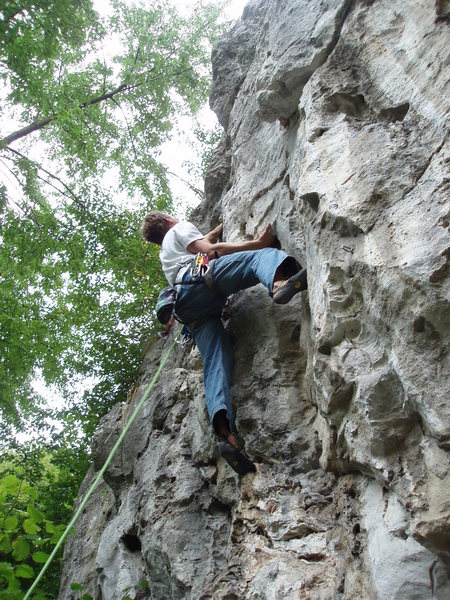 Rock Climbing Photo: Terminator 6a Just steep enough to avoid the rain
