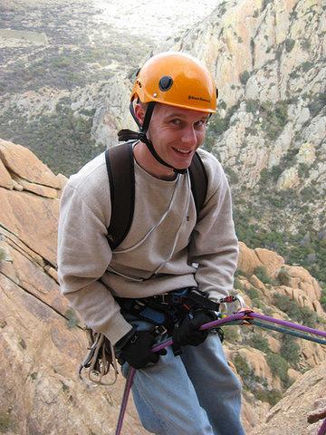 Rock Climbing Photo: On Rappel, The Wasteland AZ