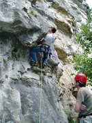 Rock Climbing Photo: Headed up another 6+?  What rating system is this ...