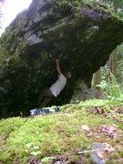 Rock Climbing Photo: Making the big reach