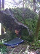Rock Climbing Photo: Traversing to the arete.