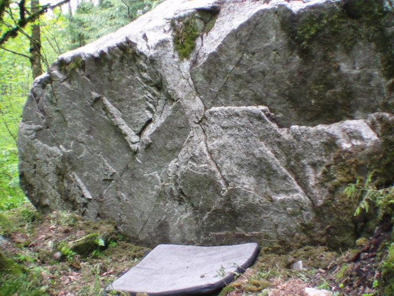 Pyramid Boulder W-side
