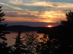 Rock Climbing Photo: Muadsley Park sunset over the Merrimack River (Mer...