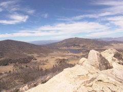 Rock Climbing Photo: view on top the stone wall at Lake Cuyamacca