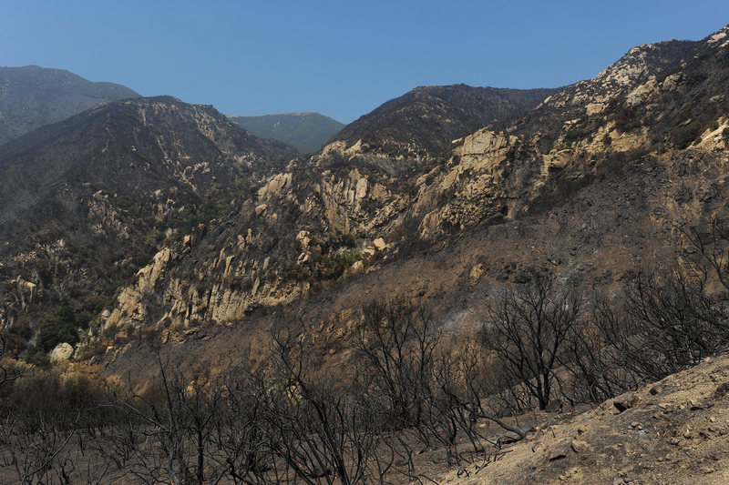The entire Gibraltar Area, in Upper Rattlesnake Canyon, burned in the Jesusita Fire.