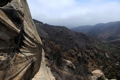 Rock Climbing Photo: View down Rattlesnake Canyon from the Peanut Galle...