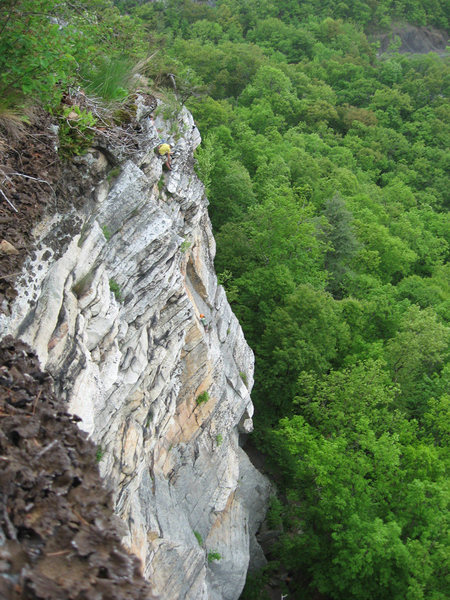 Rock Climbing Photo: Breanna finishing the final pitch of Yellow Ridge ...