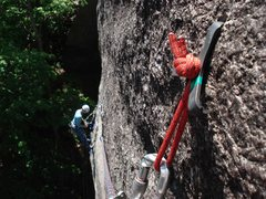 Rock Climbing Photo: the hooks are great, do not fear... adam is at the...