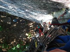 Rock Climbing Photo: looking down from high up on pitch one...