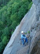 Rock Climbing Photo: almost done with our day... adam finishing cleanin...