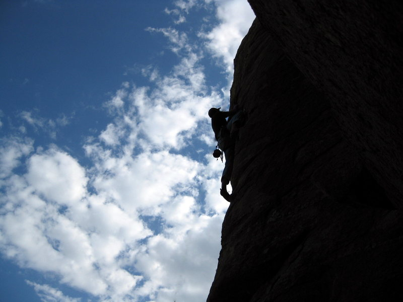 Rock Climbing Photo: climber on unknown climb at the lobo wall