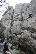 "Rock Climbing Photo: Memorial Day Weekend, 2009.  Jenni leads ""Gob..."