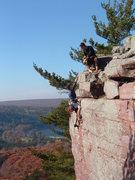 Rock Climbing Photo: You can taste the camaraderie.  C. Treiber climbin...