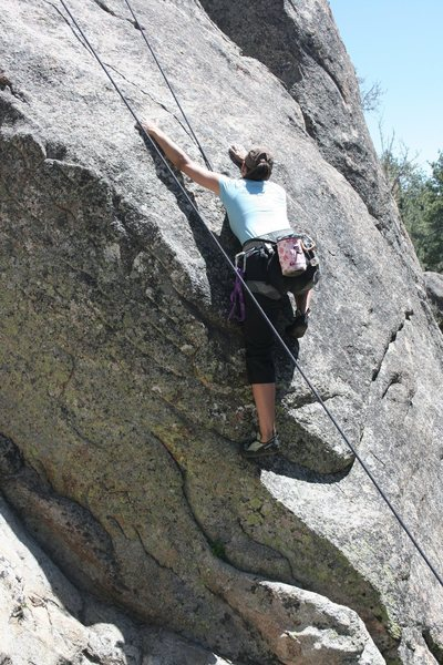 Rock Climbing Photo: starting Gravity Kills 5.10a
