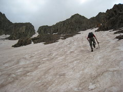 Rock Climbing Photo: Thad approaching Babcock Peak. The technical climb...