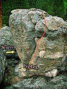 Rock Climbing Photo: Peg Leg photo beta.
