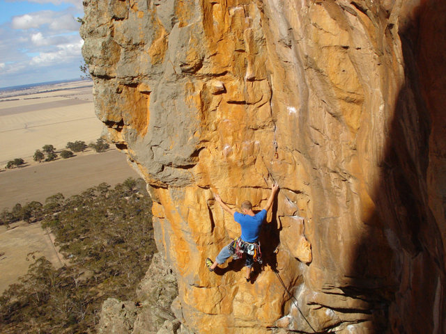 Rock Climbing Photo: Scorpion Corner, Arapiles