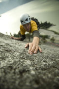 Rock Climbing Photo: Tristan leading Hairpin on the Papoose. Photo by G...