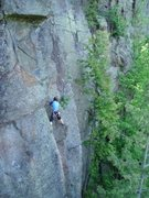 Rock Climbing Photo: Lindsay Duca in the midst of the stemming madness....