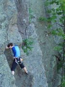Rock Climbing Photo: Nearing the end of the sustained open book.  Photo...